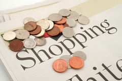 Shopping news Stock Photo