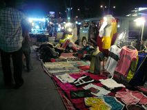 Shopping in the night market Stock Images
