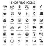 Shopping- och försäljningssymboler royaltyfri illustrationer