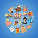 Shopping- och leveransbegrepp Royaltyfri Foto