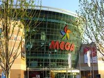 Shopping- och underhållningmitt som ÄR MEGA i Astana/Kasakhstan Arkivbilder