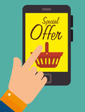 Shopping offers and sales Royalty Free Stock Image