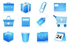 Shopping and office icons Stock Photography