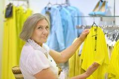 Shopping old lady Stock Image