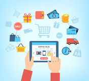 Shopping Online Background Stock Images