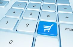 Shopping Online Button Royalty Free Stock Photo
