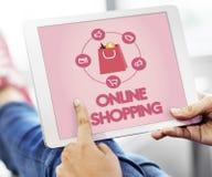 Shopping Online Buy Sale Shopahoslics Concept. Shopaholic Online Shopping Buying Concept stock photography