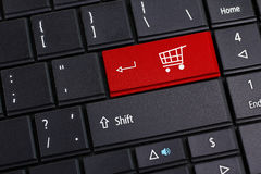 Shopping Online. Shopping cart for online shopping concepts Stock Photography