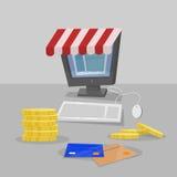 Shopping online. Computer Stock Photos