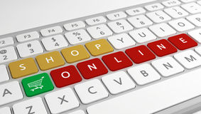 Shopping online concept Royalty Free Stock Image