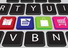 Shopping online concept Royalty Free Stock Images