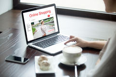 Shopping online concept Stock Image