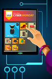 Shopping Online for Cyber Monday Sale Royalty Free Stock Photography