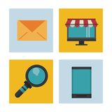 Shopping online icons. Icon vector illustration graphic design Royalty Free Stock Image