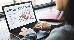 Shopping Online Shopaholics E-Commerce E-Shopping Concept. Shopping Online Shopaholics E-Commerce E-Shopping stock images