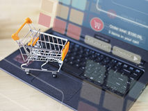 Shopping online Stock Photos