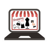 Shopping online vector Royalty Free Stock Images