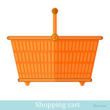 Shopping orange basket Royalty Free Stock Photos
