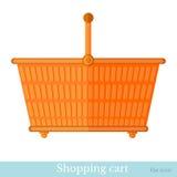 Shopping orange basket Royalty Free Stock Photos