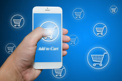 Shopping order via smart phone Stock Photo
