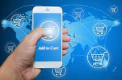 Shopping order via smart phone Stock Image