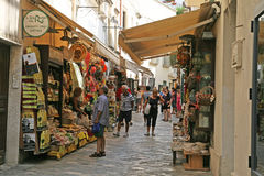 Shopping in otranto Royalty Free Stock Images