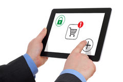 Shopping Over The Internet Royalty Free Stock Photo