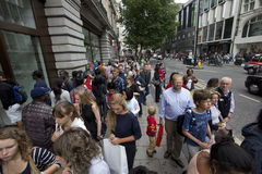 Shopping in Oxford Street in London Stock Photos