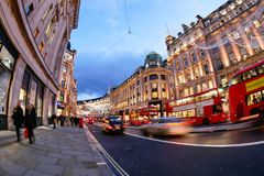 Shopping at Oxford street, London, Christmas day. In London 2017 Stock Photo