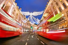 Shopping at Oxford street, London, Christmas day. In London 2017 Stock Images
