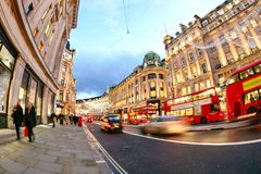 Shopping at Oxford street, London, Christmas day. In London 2017 Stock Photography