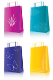 Shopping package. Set of 4 special shopping package Stock Images