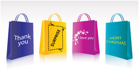 Shopping package royalty free illustration