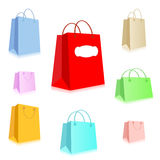 Shopping Package Set Stock Photos