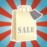 Shopping packet sale Stock Photography