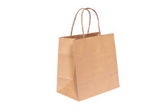 Shopping paper bag. Isolated on white background Stock Photo