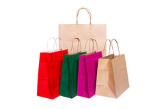 Shopping paper bag Stock Photos