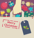Shopping paper bag stamped with Christmas wish Stock Photography