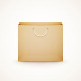 Shopping paper bag on white background Royalty Free Stock Photos