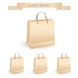 Shopping paper bags, vector illustration Royalty Free Stock Images