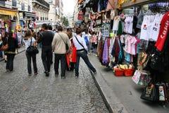 Shopping in Paris stock image