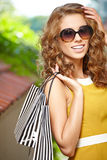 Shopping in Paris Stock Photography
