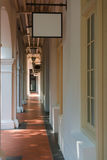Shopping passage arcade. With classical signboards Royalty Free Stock Photography