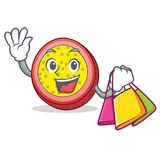 Shopping passion fruit character cartoon. Vector illustration Royalty Free Stock Photography