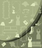 Shopping pattern Royalty Free Stock Image