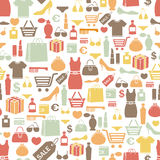 Shopping pattern. Seamless pattern with shopping icons Royalty Free Stock Image