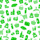 Shopping pattern. Seamless pattern with shopping icons Stock Photography
