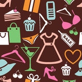 Shopping pattern Royalty Free Stock Photography