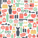 Shopping pattern Stock Photo