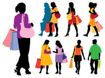Shopping people Royalty Free Stock Image